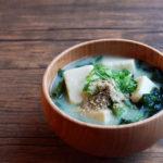 高野豆腐とわかめのお味噌汁