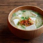 松山あげと豆腐のお味噌汁