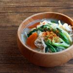 鍋の余り野菜でお味噌汁