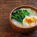 菜の花と半熟卵のお味噌汁