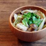 セロリと豚肉のお味噌汁