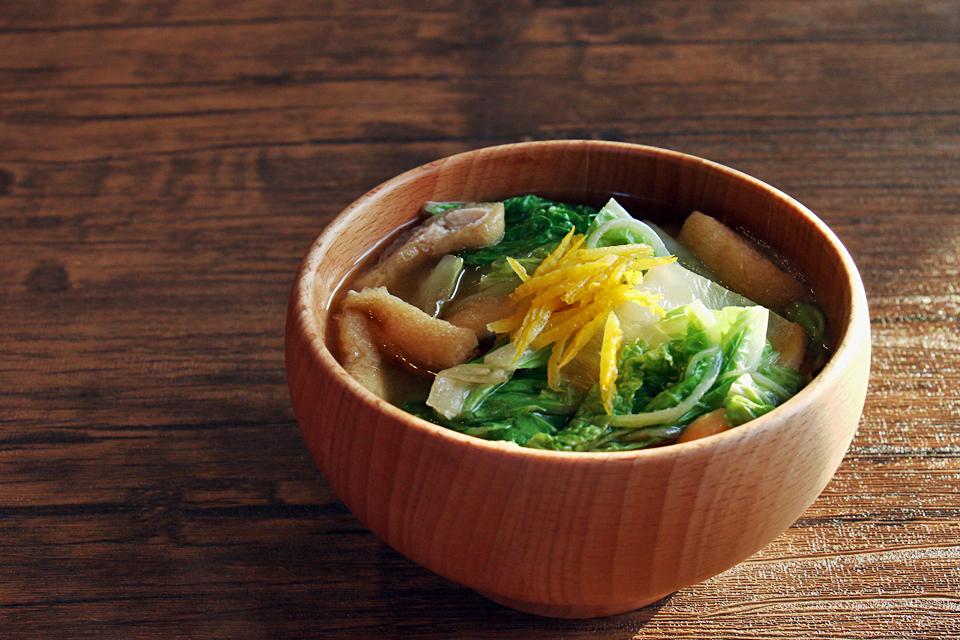 白菜とゆずのお味噌汁