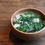 春菊とえのきのお味噌汁