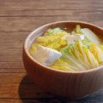 白菜と木綿豆腐のお味噌汁
