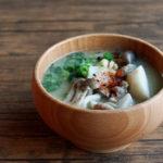 里芋と鶏肉のお味噌汁