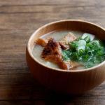 天ぷらと豆腐のお味噌汁