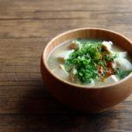 鶏ささみと豆腐のお味噌汁