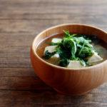 大葉と高野豆腐とわかめのお味噌汁
