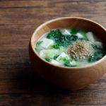 大根菜とすりごまのお味噌汁