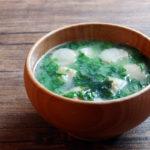大根菜と麩、わかめのお味噌汁