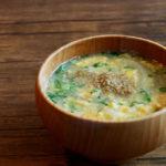玉ねぎとふわふわ卵のお味噌汁