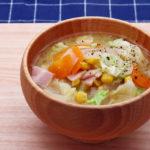 野菜たっぷりなお味噌汁(キャベツ)